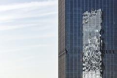 Marco completo de la arquitectura de acero de cristal moderna fotografía de archivo