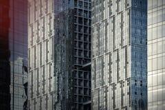 Marco completo de la arquitectura de acero de cristal moderna fotografía de archivo libre de regalías