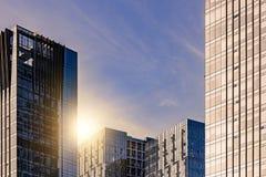 Marco completo de la arquitectura de acero de cristal moderna foto de archivo