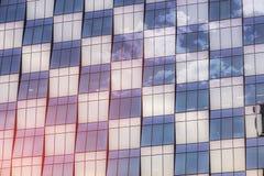 Marco completo de la arquitectura de acero de cristal moderna imagenes de archivo