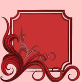 marco con el ornamento floral abstracto Imagen de archivo libre de regalías
