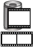Marco con el Película-Rectángulo y la película Fotos de archivo