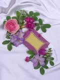 Marco con las flores Fotografía de archivo