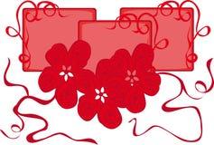 Marco con las flores Stock de ilustración