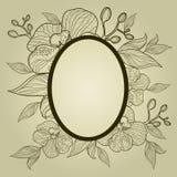 Marco con las flores - orquídea de la vendimia del vector Imagen de archivo libre de regalías