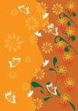 Marco con las mariposas y las flores Ilustración del Vector