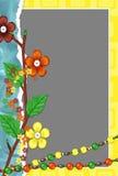 Marco con los floretes y los granos Foto de archivo libre de regalías