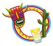 Marco con símbolos mexicanos Foto de archivo libre de regalías