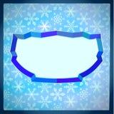 Marco congelado con los copos de nieve Foto de archivo libre de regalías