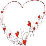 Marco-corazón. Foto de archivo libre de regalías