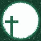 Marco cruzado de la frontera de la hierba de la luna