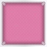 Marco cuadrado chino en el fondo oriental del modelo rosado para el gre Foto de archivo libre de regalías