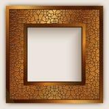 Marco cuadrado con el ornamento de la frontera del oro stock de ilustración