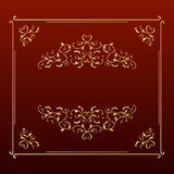 Marco cuadrado de oro del diseño elegante Fotos de archivo libres de regalías