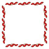 Marco cuadrado de pimientas aisladas en el fondo blanco stock de ilustración