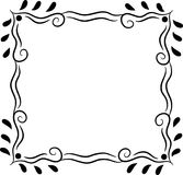 Marco cuadrado decorativo simple aislado en blanco Imagen de archivo