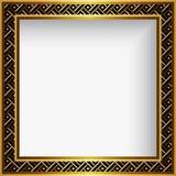 Marco cuadrado del oro con la frontera ornamental libre illustration