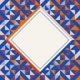 Marco cuadrado en los colores rojos y azules anaranjados, modelo geom?trico abstracto del fondo libre illustration