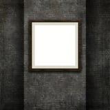 marco 3D en una textura de la pared de ladrillo del grunge Imagenes de archivo