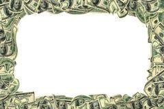 marco de 100 dólares aislado en blanco. Imagen de archivo