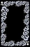 Marco de acero azul del remolino imagen de archivo libre de regalías