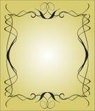 Marco de ?alligraphy stock de ilustración