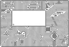 Marco de alta tecnología de la tarjeta de circuitos del vector Imagen de archivo libre de regalías