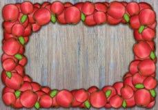 Marco de Apple en la pared de madera para la acción de gracias Imagen de archivo libre de regalías