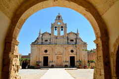 Marco de Arkadi Monastery Imagem de Stock
