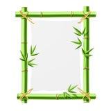 Marco de bambú con el papel en blanco. Vector. ilustración del vector