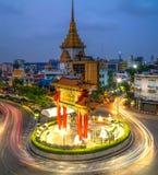 Marco de Banguecoque do bairro chinês imagem de stock royalty free