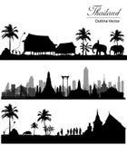 Marco de Banguecoque, Tailândia ilustração do vetor