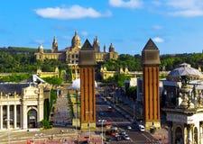 Marco de Barcelona, Espanha. imagem de stock royalty free