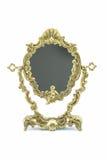 Marco de bronce del espejo Fotos de archivo