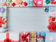 Marco de cajas de regalo fotografía de archivo
