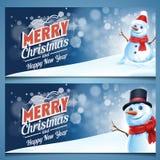 Marco de carte cadeaux del muñeco de nieve Imágenes de archivo libres de regalías