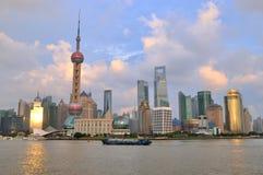 Marco de China Shanghai, distrito de Pudong Imagens de Stock