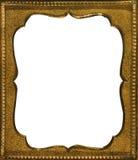 Marco de cobre amarillo antiguo Fotos de archivo libres de regalías
