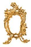 Marco de cobre amarillo barroco antiguo Foto de archivo libre de regalías