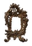Marco de cobre amarillo barroco antiguo Fotografía de archivo