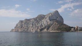 Marco de Costa Blanca Spain da rocha de Calpe igualmente conhecido como Penon de Ilfach filme