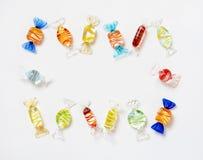 Marco de cristal del caramelo, diagonal Imagenes de archivo