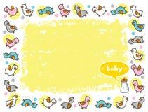 Marco de Duckies para el bebé Imágenes de archivo libres de regalías