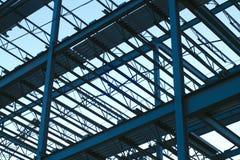 Marco de edificio del emplazamiento de la obra de la estructura del haz del metal fotografía de archivo libre de regalías
