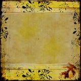Marco de Grunge con la frontera floral stock de ilustración