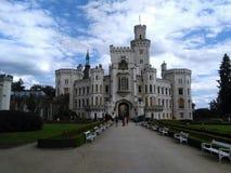Marco de Hluboka do castelo na república checa imagem de stock