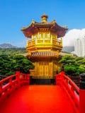 Marco de Hong Kong - Nan Lian Garden Chinese Classical Garden fotografia de stock royalty free