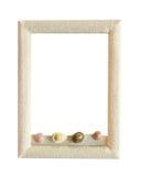 marco de la arena aislada en el blanco para la decoración Fotografía de archivo libre de regalías