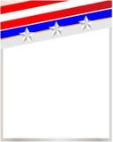 Marco de la bandera de los E.E.U.U. Imágenes de archivo libres de regalías