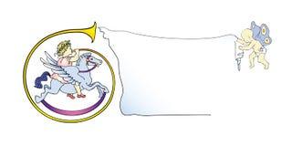 Marco de la bandera del clarín del bebé Foto de archivo libre de regalías